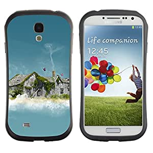 Pulsar iFace Series Tpu silicona Carcasa Funda Case para SAMSUNG Galaxy S4 IV / i9500 / i9515 / i9505G / SGH-i337 , Abstract House Smoke