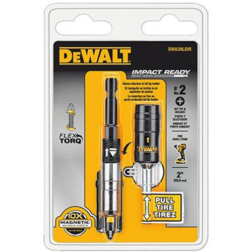 Impact Ready Bit Tip (DEWALT DWA3HLDIR IMPACT READY FlexTorq Bit Tip Holder with Screwlock System)