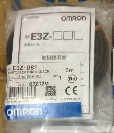 OMRON E3Z-D81 2M Compact Photoelectric Sensor (With Built-in Amplifier)(Diffuse-Reflective)(Pre-Wired Type)(Sensing Distance 5 to 100m)(PNP) NN