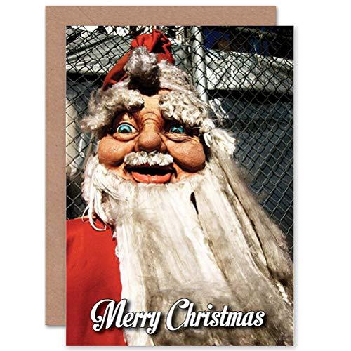 (Wee Blue Coo Card Greeting Christmas Xmas Happy Smiling Santa FACE)