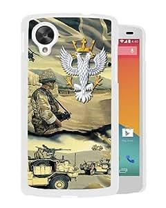 Popular Nexus 5 Case,Mercian Regiment White Google Nexus 5 Screen Phone Case Elegant and Fashion Design