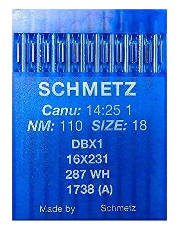 caja de 100 agujas Organ Agujas de Máquina de Coser Industrial 16X231 Talla 100//16