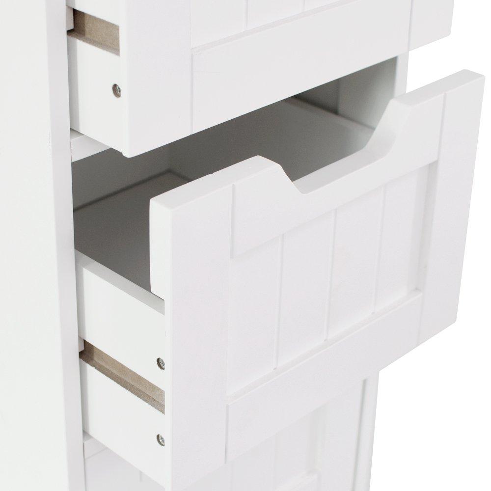 Home discount bathroom 4 drawer floor standing cabinet for Bathroom standing cabinet