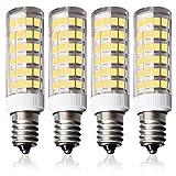 LAMPAOUS E12 LED Light Bulb 7W Candelabra Corn Bulbs 60 Watt Equivalent 6000K