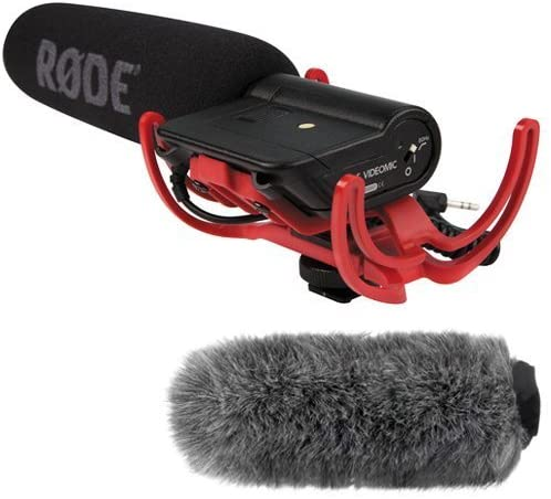 Microfono Rode VideoMic con Fuzzy Windjammer Kit
