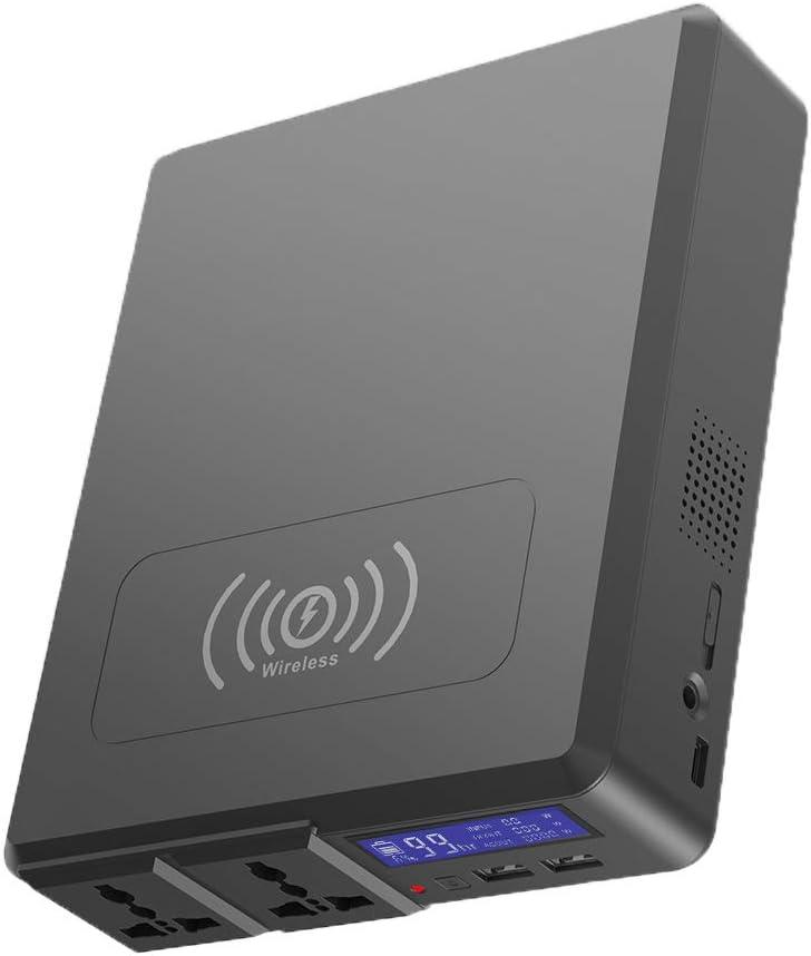 QWERTOUY Salida de la estación de energía portátil 220V Power Bank Cargador inalámbrico 154Wh batería de Litio AC TypeC USB para Acampar Inicio de Uso de Emergencia