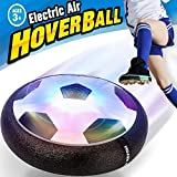 Kids Air Power Soccer Ball,LED Lights Up Hover Soccer Ball Toys Size 4 for Boys Girls Holiday Toys Floating Training Football Indoor Outdoor Ball Games for Christmas Birthday Happy New Year Party Gift