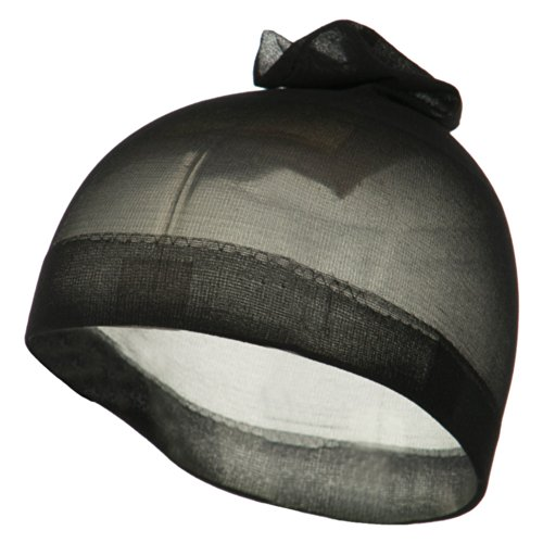 2 Pieces Stocking Wave Cap - Black OSFM ()