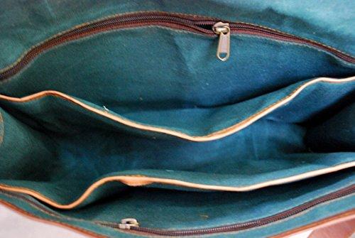 "VH GENUINE Leder Messenger Bag 15 ""Leder FULL FLAP Laptop Tasche Eco freundliche Ledertasche"