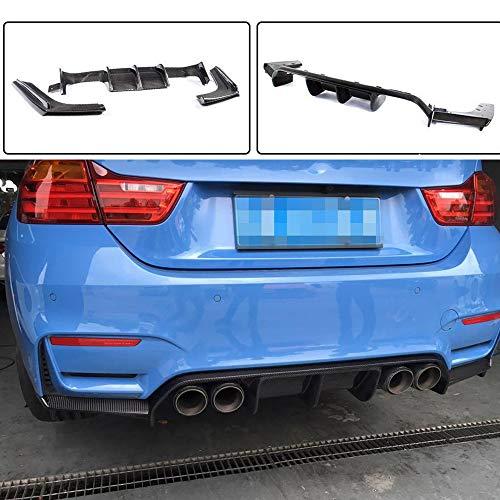Series 3 Rear Bumper Sedan (Jcsportline Carbon Fiber Rear Diffuser Lip fits BMW 3 Series F80 M3 Sedan 4 Series F82 F83 M4 Coupe Convertible 2014-2018 3PCS/Set)