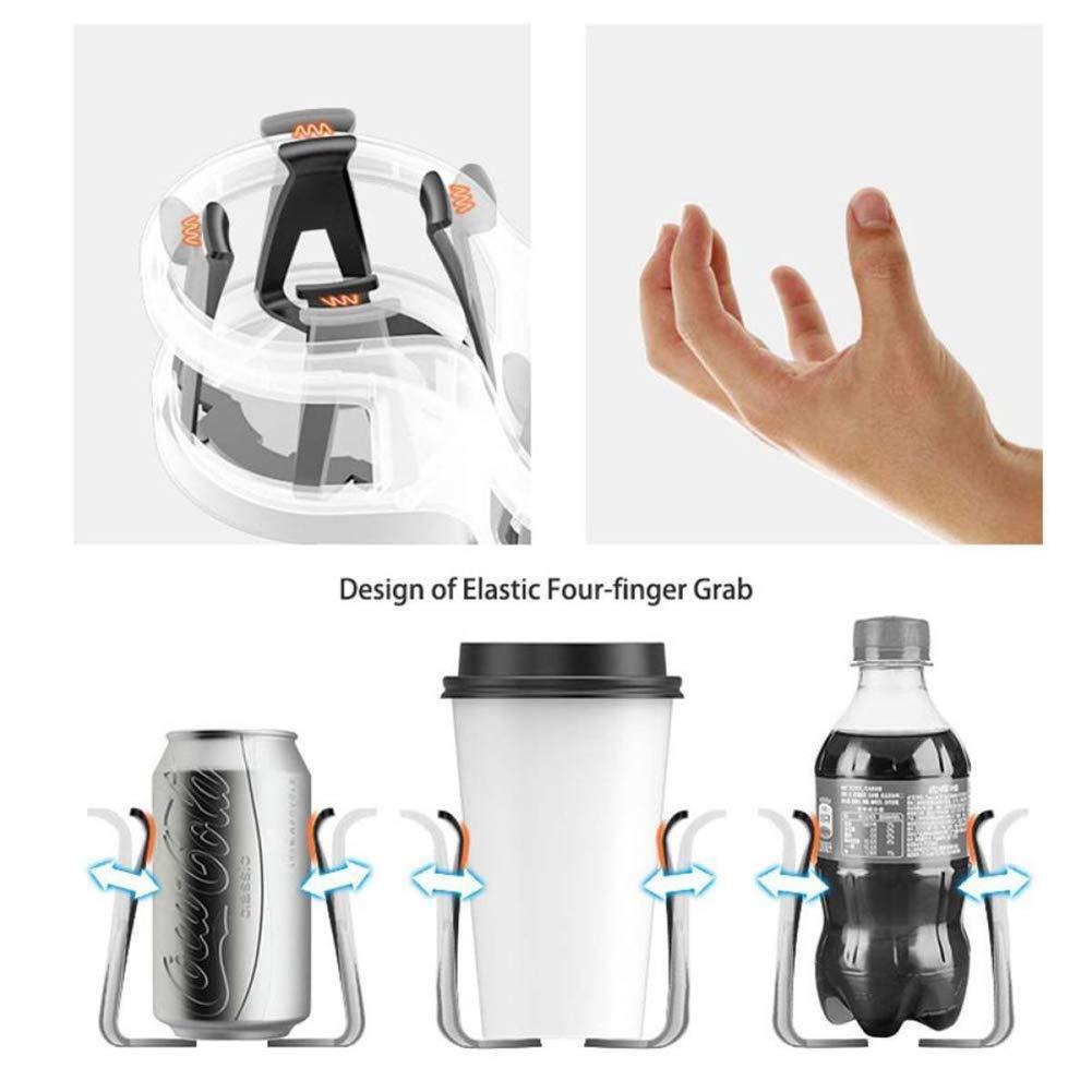 2 in 1 doppeltes Loch f/ür Wasserflaschenhalter verstellbar platzsparend Dyda6 Auto-Becherhalter