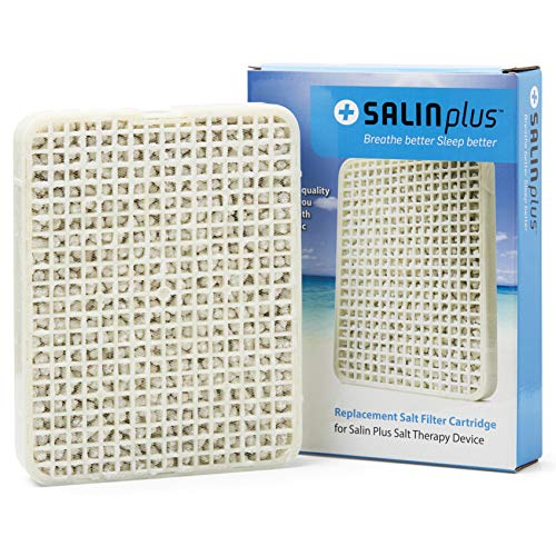 Salin Plus Replacement Salt Cartridge for Regular Salin Plus Air Filter and Purifier (Standard Sized Filter)