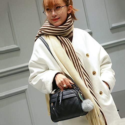 Adolescent Sacs Bandoulière mode Épaule la Messenger À Pouch cuir Hairball à Lady Pendentif main PU en Femmes Filles Sac Sac xqZR74Zw