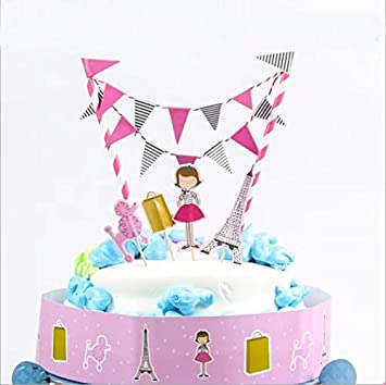 Doyeemei City Girl Cake Toppers Happy Birthday Party Cake