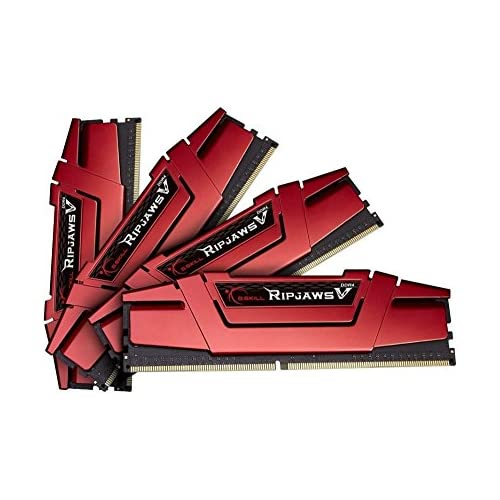 chollos oferta descuentos barato Memoria RAM de Skill Ripjaws V Series F4 2400C15Q 32GVR 32 GB 8 gbx4 Kit de Memoria DDR4 2400 MHz C15 1 2 V roja de ira