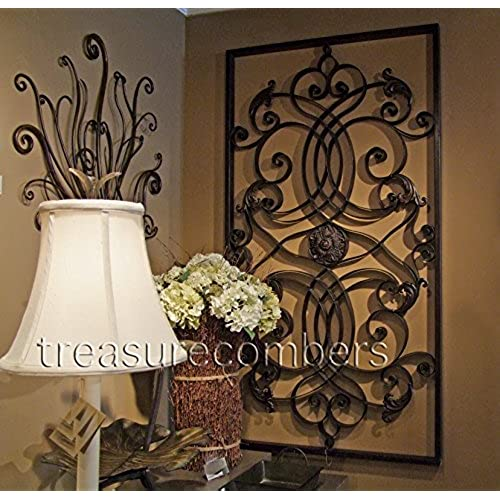 Extra Large 61  WALL ART Iron Scroll Oversize - Indoor or Outdoor  sc 1 st  Amazon.com & Large Metal Wall Decor: Amazon.com
