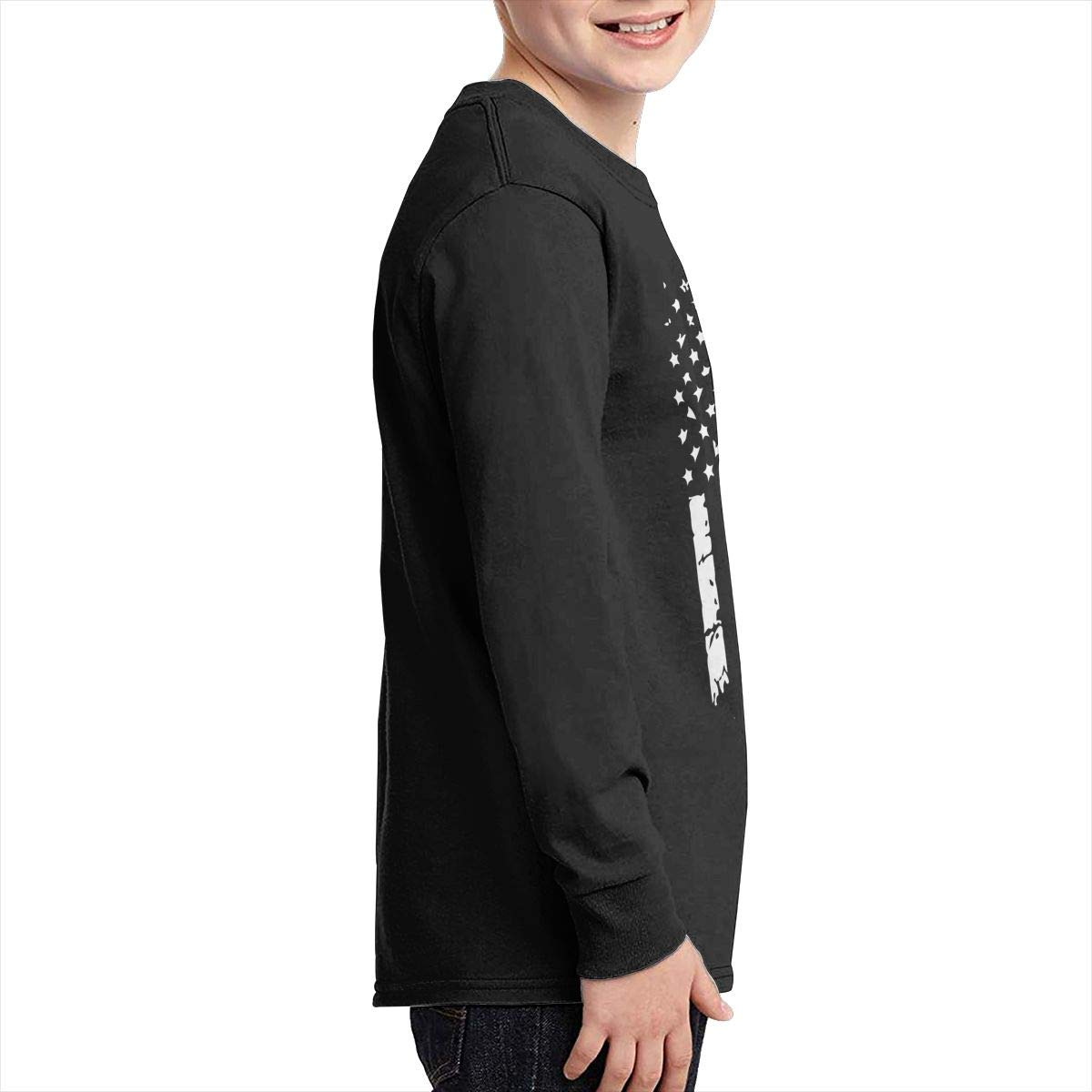 Teenagers Teen Boy Down Syndrome Awareness Flag Printed Long Sleeve 100/% Cotton Tops