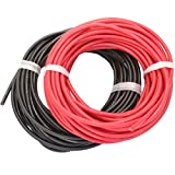 Novak 5520 12 Gauge Super-Flex Silicone Wire 20m [10m Black & 10m Red] 1050 Strands of Copper Wire, High Temperature Resistant 12 AWG