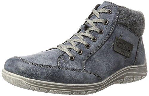 Rieker Herren F6513 Hohe Sneaker, Grau (Ozean/Granit/Schwarz)