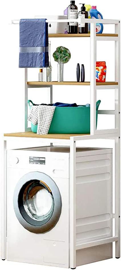 2//3 Tiers Storage Rack Over Toilet//Bathroom//Laundry//Washing Machine Shelf Unit