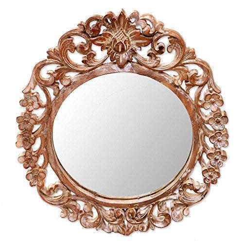 Handmade Garden Mirror - NOVICA 263187 Gianyar Garden' Wall Mirror