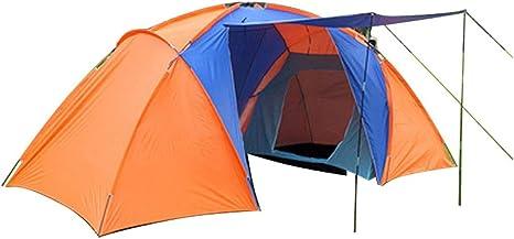 Tiendas Campaña Al Aire Libre Espacio Grande Playa para Acampar Campaña Plegable Escalada 3-4 Personas Naranja: Amazon.es: Deportes y aire libre