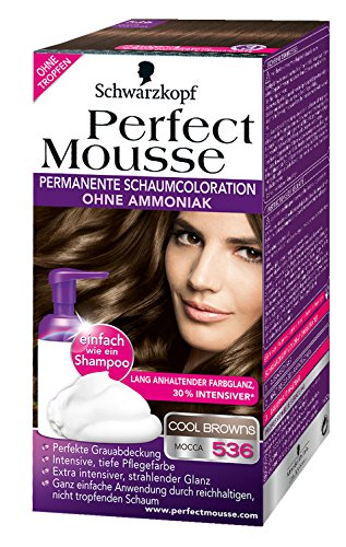 3x schwarzkopf perfect mousse 536 cool browns mousse colorant amazoncouk beauty - Mousse Colorante Schwarzkopf