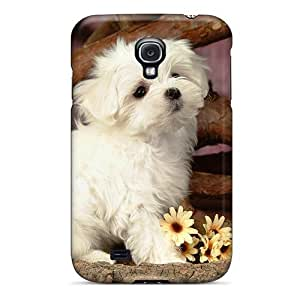 Defender Case With Nice Appearance (lovely White Puppy Dog) For Galaxy S4