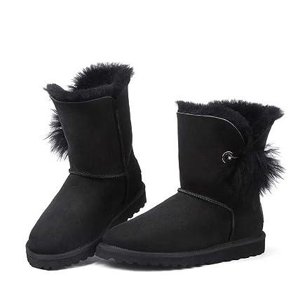 eeb051e64dde Hy Women s Snow Boots Winter Flat Fashion Booties,Ladies Plus Cashmere Warm  Windproof Snowproof Cute
