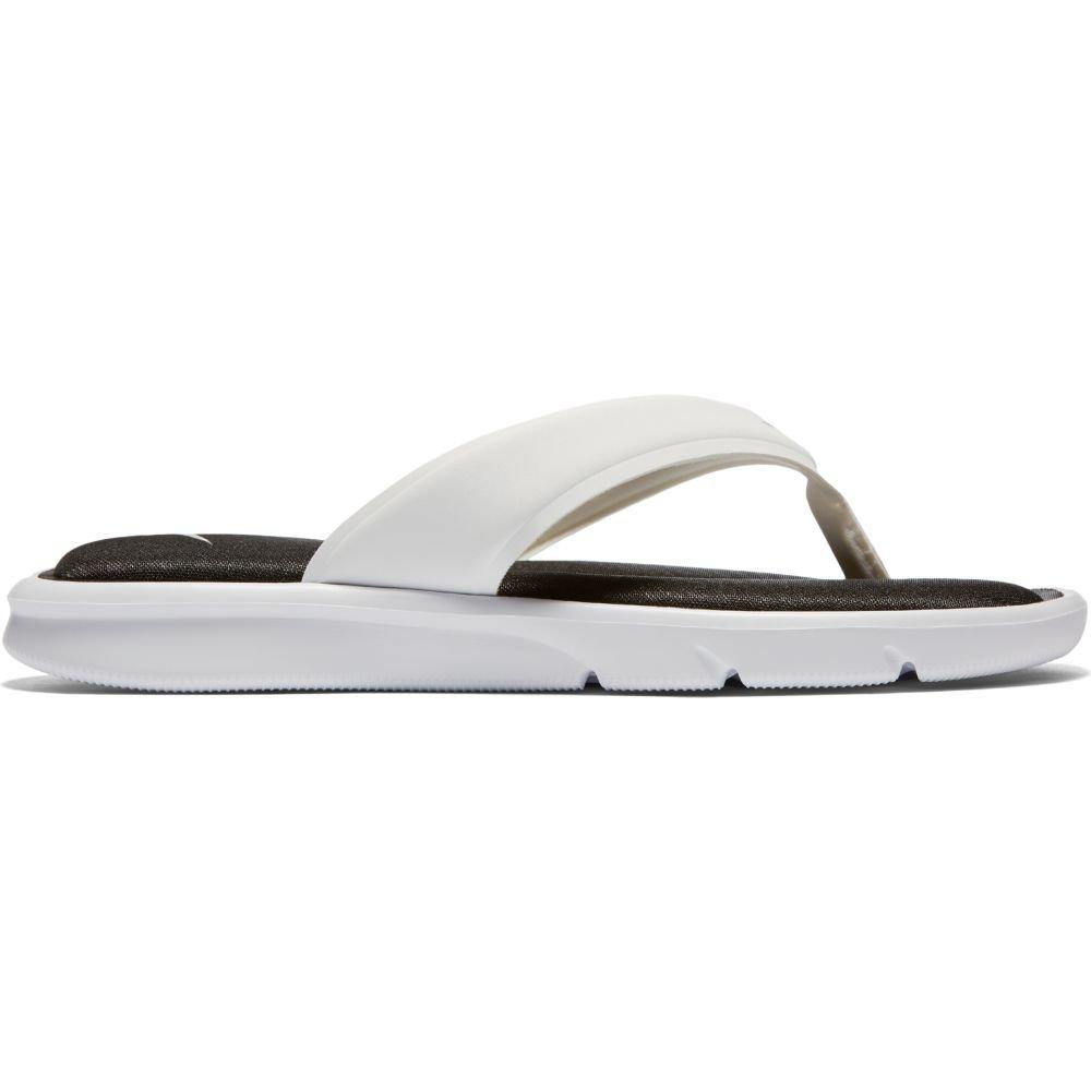 9cc6c1a76f7e Galleon - Nike Womens Ultra Comfort Thong White Black White Sandal 11 Women  US