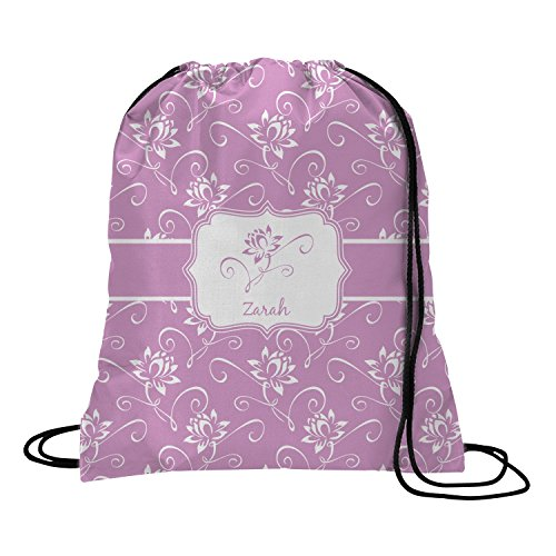 Lotus Flowers Drawstring Backpack – Small (Personalized) For Sale