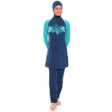 14686b4317 YONGSEN Islamic Swimsuit For Women Modest Muslim Swimwear Swimming Clothes Swimsuit  Burkini at Amazon Women s Clothing store