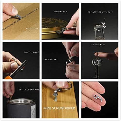 Amhomely®2019 Key chain portable Mini Flaschenöffner - Sehr viele funktionelle Schraubendreheröffner Design Edelstahl Flaschenöffner Schlüsselanhänger verschleißfrei (2PC)
