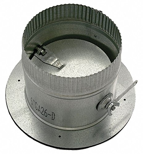 Galvanized Steel Collar W/Damper, 12'' Duct Fitting Diameter, 5'' Duct Fitting Length