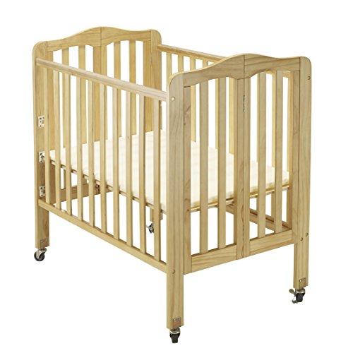 Big Oshi Angela 3 Position Portable Adjustable Crib Foldable & Space Saving Baby Crib - Natural