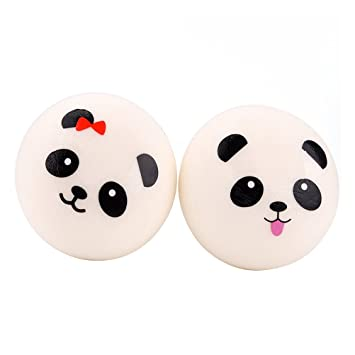 Mobile Phone Straps New 10cm Panda Squishy Charms Kawaii Buns Bread Cell Phone Key Bag Strap Pendant Squishes Durable In Use