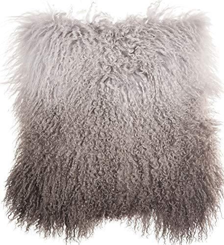 Overland Sheepskin Co 16 x 16 Single-Sided Tibetan Lamb Fur Pillow