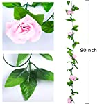 Miracliy-2-Pack-15-FT-Fake-Rose-Vine-Flowers-Plants-Artificial-Flower-Home-Hotel-Office-Wedding-Party-Garden-Craft-Art-Dcor-Pink