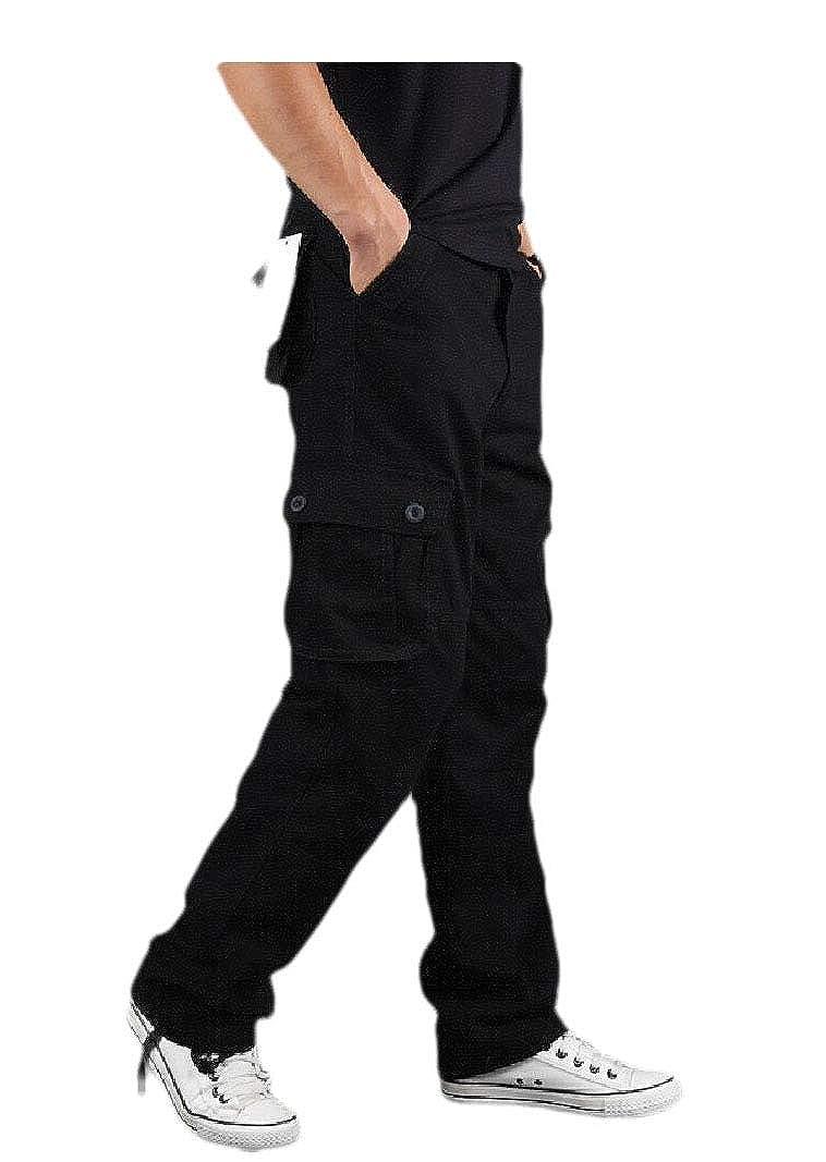 VITryst-Men Sustainable Casual Multi-Pockets Straight Leg Cargo Pant