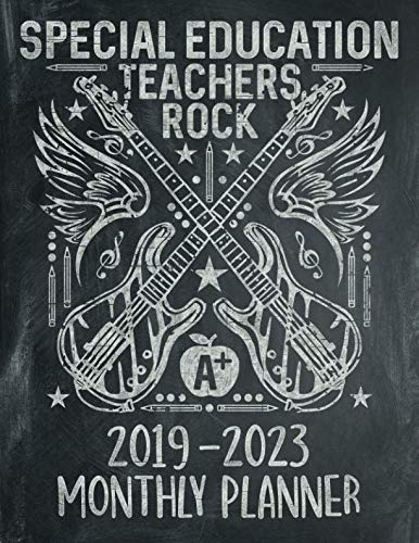 (Special Education Teachers Rock: Five Year Calendar 2019 - 2023 Monthly Planner and Notebook 8.5x11 144 Pages)