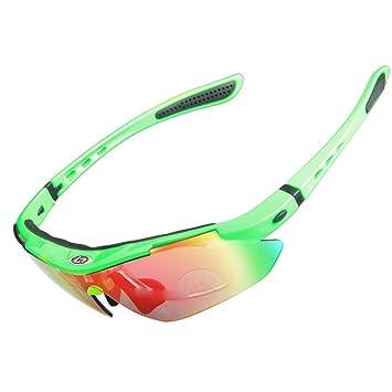 iisport Polarizado Protección UV400 Deportes Gafas de Sol Ciclismo Envuelva con 5 lentes Intercambiables Unbreakable para