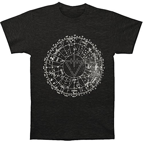 (Devil Wears Prada Men's Circle T-shirt Small Charcoal)