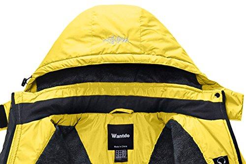 Mujer Excursión Impermeable Wantdo Amarillo Polar Esquí Forro para Chaqueta de Ww6qF1