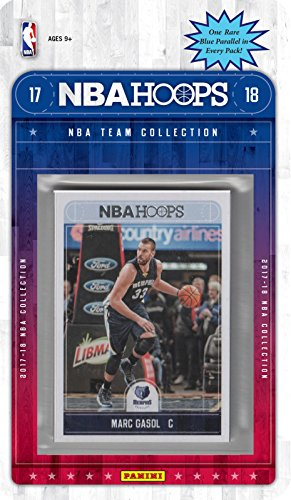 Memphis Grizzlies 2017 2018 Hoops Basketball Brand New Factory Sealed 8 Card NBA Licensed Team Set with Marc Gasol, Mike Conley, Ivan Rabb Rookie ()