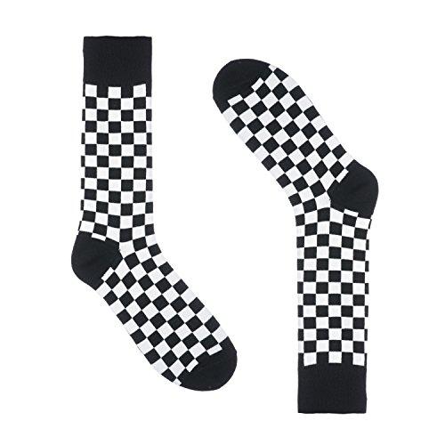 Checkered Socks for Men - Dress Sock - Premium Cotton - Size 8-13 (One Pair) (Checkers ()