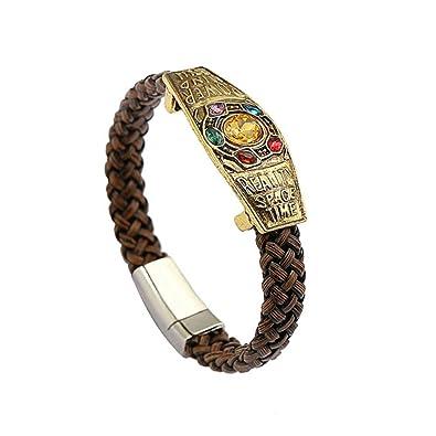Thanos Bracelet Gauntlet Power Stone Chain Bracelet Band Cosplay Jewelry