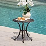 """Christopher Knight Home Louis Outdoor 19"""" Bronze Finished Cast Aluminum Side Table"""