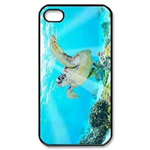 HXYHTY Customized Print Tortoise Pattern Back Case for iPhone 4/4S