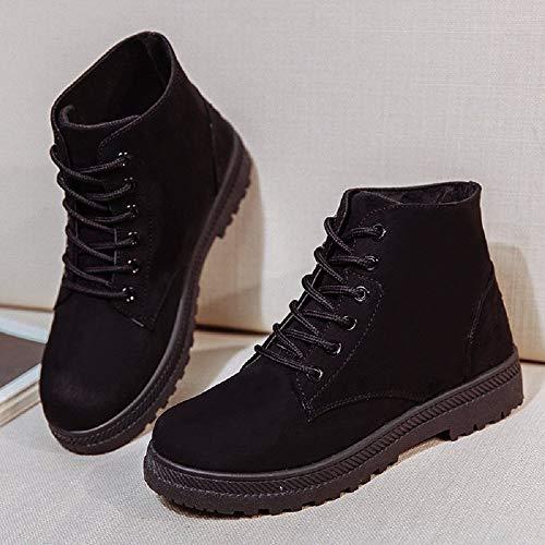 Ankle Stivali Boots Marrone Invernale Scamosciato Neve Neri Pelliccia Flat Caldo Donna Caviglia Nero Bassi Stringate Rosso Da Alta Stivaletti 35 43 6xOnqfwaPw