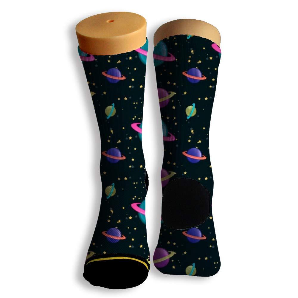 Basketball Soccer Baseball Socks by Potooy Planet Clone 3D Print Cushion Athletic Crew Socks for Men Women